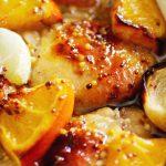 Pollo con naranja y miel