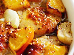 receta de pollo con naranja y miel